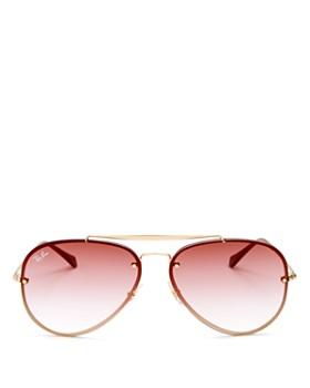 Ray-Ban - Unisex Blaze Brow Bar Aviator Sunglasses, ... b334289ae3