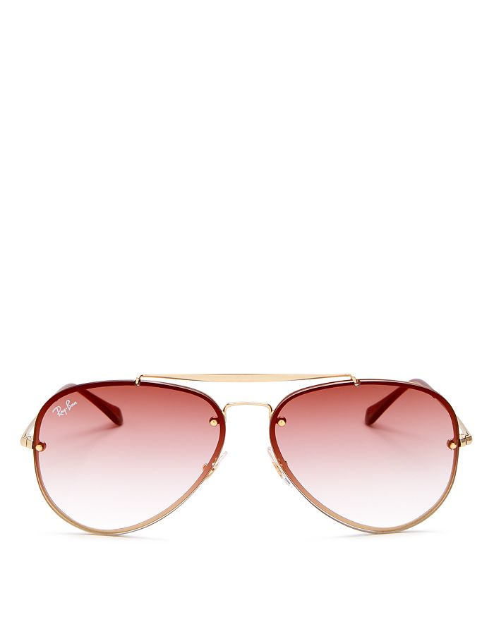 2e00516ad4 Ray-Ban - Unisex Blaze Brow Bar Aviator Sunglasses