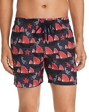 Vilebrequin Mahina Boat & Koi-Print Swim Shorts