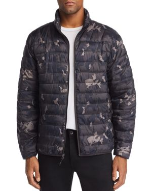 HAWKE & CO. Camouflage-Print Lightweight Packable Puffer Jacket in Geo Camo