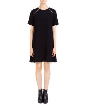 Gerard Darel Agnes Faux-Pearl-Trim Shift Dress