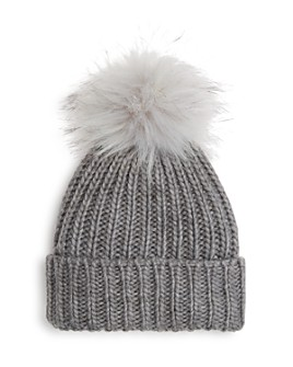 V Fraas - Girls' Faux-Fur Pom Hat