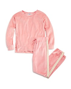 Splendid - Girls' Velour Sweatshirt & Jogger Pants - Big Kid