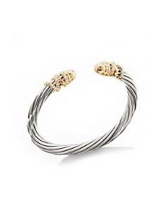David Yurman - Helena Bracelet with 18K Yellow Gold Dome & Diamonds