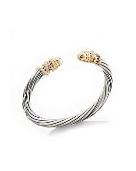 David Yurman - Helena Bracelet with 18K Yellow Gold Dome & Diamonds