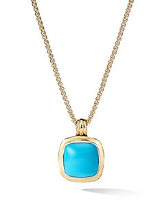 David Yurman - Albion® Pendant with 18K Yellow Gold & Reconstituted Turquoise