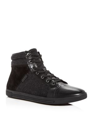 Kenneth Cole Men's Initial Point Mixed Media High-Top Sneakers