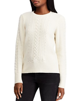 Ralph Lauren - Beaded Cable-Knit Sweater