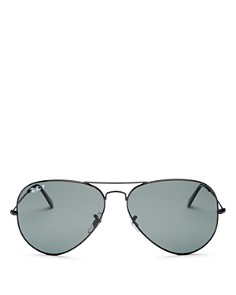 Ray-Ban - Men's Polarized Brow Bar Aviator Sunglasses, 62mm