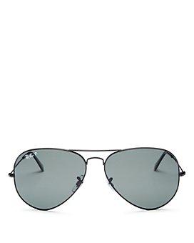 Ray-Ban - Men's Classic Polarized Brow Bar Aviator Sunglasses, 62mm