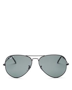 Ray-Ban - Men s Polarized Brow Bar Aviator Sunglasses, ... 062f4846c3