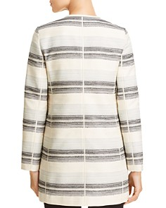 Lafayette 148 New York - Pria Striped Open Front Jacket