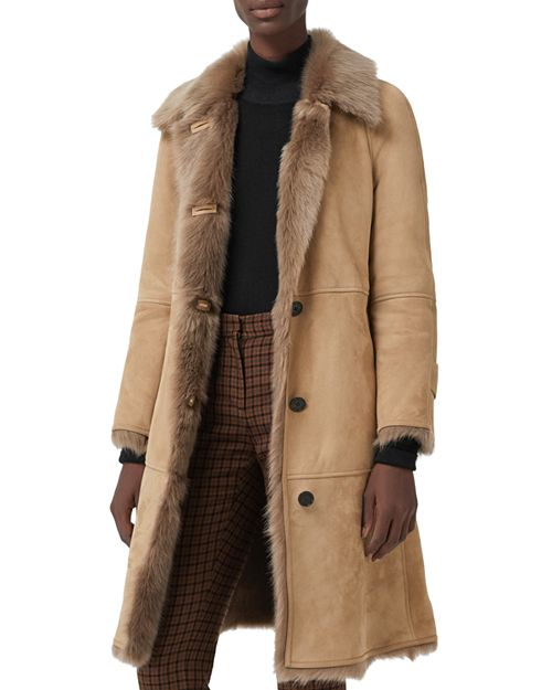 Burberry Shearling Coat