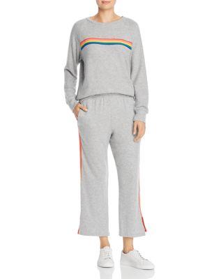 Rainbow-Stripe Sweatshirt