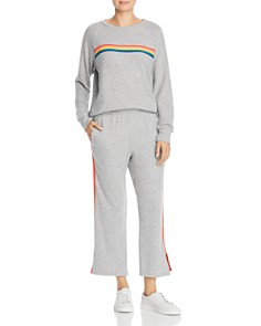 LNA - Rainbow-Stripe Sweatshirt
