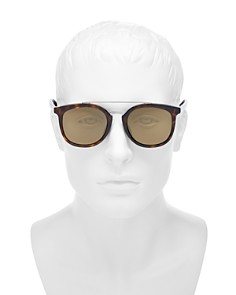 Gucci - Men's Mirrored Brow Bar Round Sunglasses, 50mm
