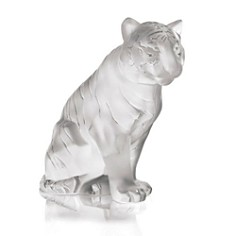 Lalique - Sitting Tiger Small, Clear by Lalique
