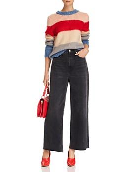 AQUA - Wide Stripe Crewneck Sweater - 100% Exclusive