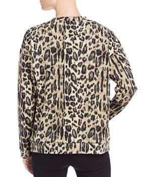Kenneth Cole - Lightweight Leopard-Print Sweatshirt