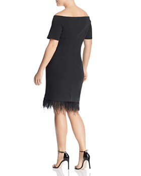 VINCE CAMUTO Plus - Embellished Off-the-Shoulder Dress