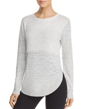 HEATHER B Space-Dye Sweater in Gray Combo