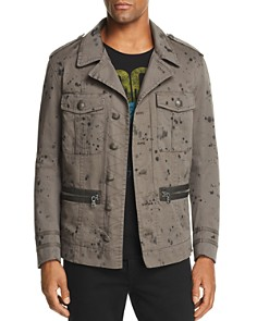 John Varvatos Star USA - Ink-Splattered Officer Jacket