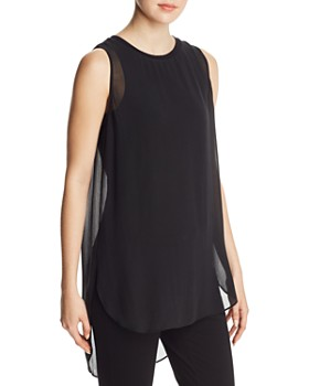 Go by Go Silk - Semi-Sheer Layered Tank