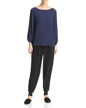 Eileen Fisher - Silk Slit-Sleeve Top