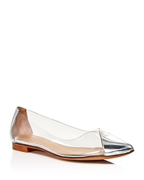 SCHUTZ - Women's Clearly Pointed Toe See-Through Flats