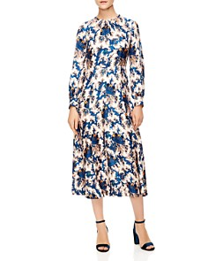 Sandro - Carna Silk Midi Dress