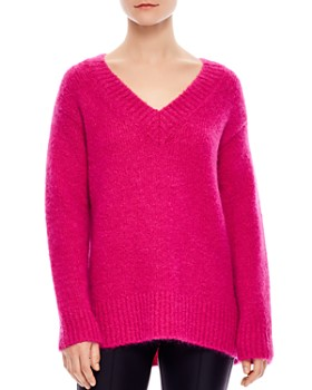 Sandro - Carolina Oversized V-Neck Sweater