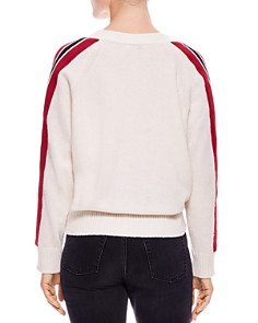 Sandro - Briona Striped-Sleeve Sweater