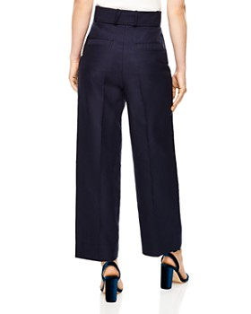 Sandro - Aloes Belted Wide-Leg Pants
