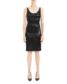 Theory - Faux Leather Dress