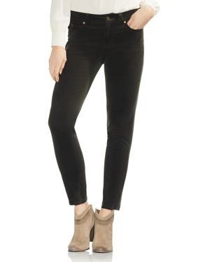Vince Camuto Washed Corduroy Skinny Jeans in Rich Olive
