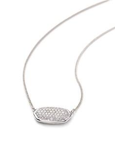 "Kendra Scott - Elisa Diamond Necklace in 14K Yellow Gold, 14K Rose Gold or 14K White Gold, 15"""