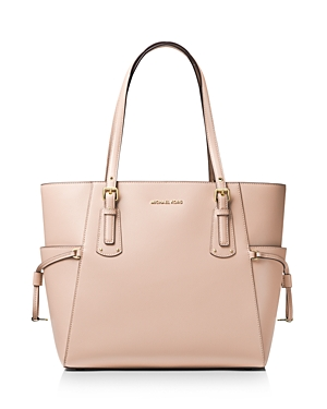 c039f482b311 Michael Michael Kors Voyager East West Leather Tote In Soft Pink Gold