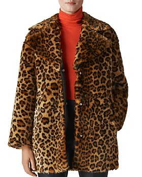 Whistles - Leopard-Printed Faux Fur Coat