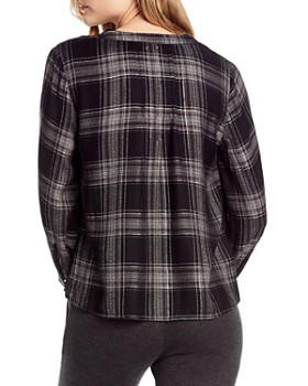 Michael Stars - Plaid Pintuck Top