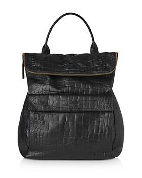 Whistles - Verity Croc-Embossed Leather Backpack
