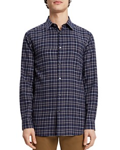 Theory - Menlo Plaid Flannel Regular Fit Shirt