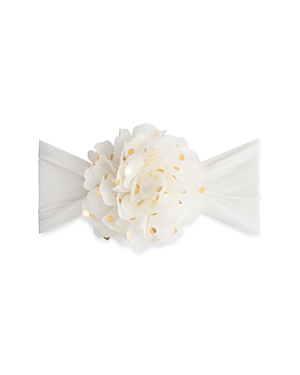 Baby Bling Girls' Gold Dot Flower Headband - Baby
