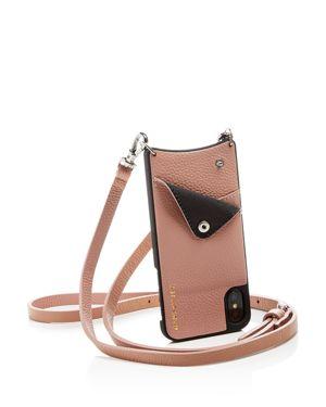 BANDOLIER Leather Iphone X Crossbody in Desert Rose