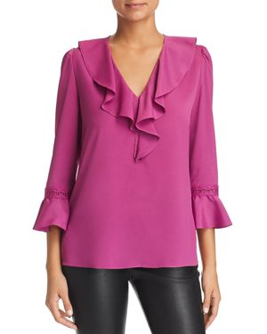 LE GALI Merilyn Ruffle-Trim Top - 100% Exclusive in Orchid Pink