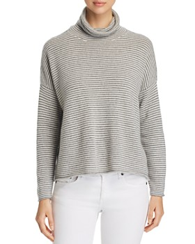 Eileen Fisher - Striped Turtleneck Sweater - 100% Exclusive