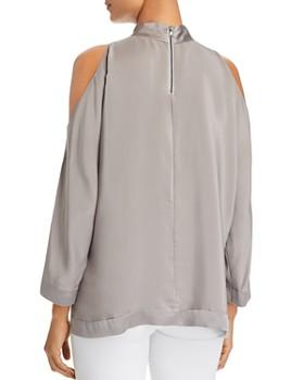 48a3a682e71e43 ... Go by Go Silk - Cold-Shoulder Top