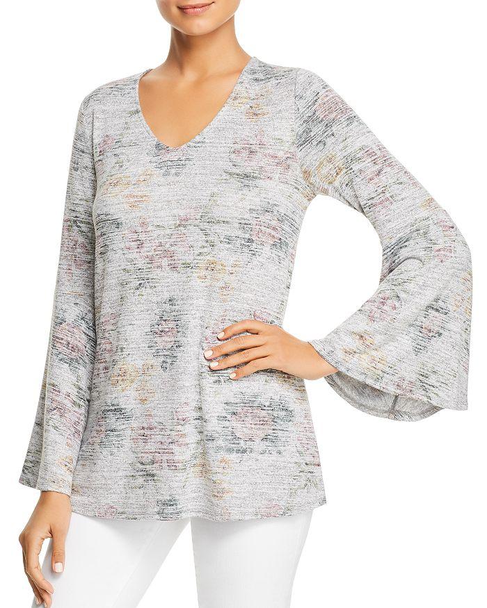 e01f7769e7d Cupio - Bell Sleeve Floral Print Top