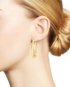Moon & Meadow - Oblong Hoop Earrings in 14K Yellow Gold - 100% Exclusive