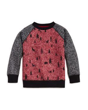 Mini Series Boys' Forest-Print Sweatshirt, Little Kid - 100% Exclusive