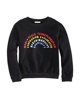 Michelle by Comune - Girls' Rainbow Sweatshirt, Little Kid, Big Kid - 100% Exclusive